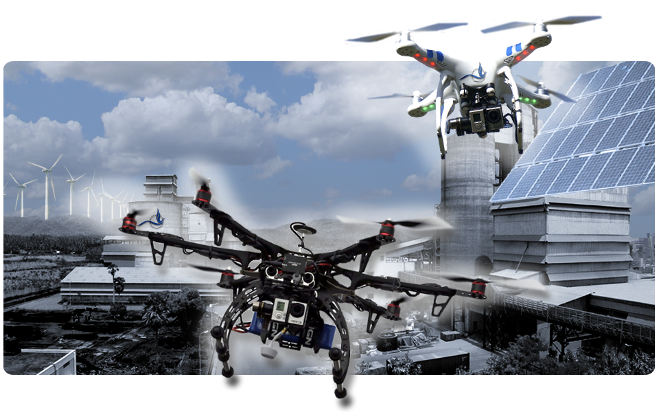 DRONES (UAS Unmanned Aerial Systems) for professional, commercial, and security purposes.