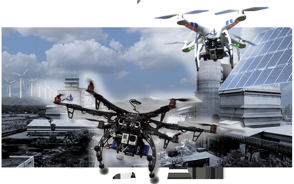 Servicios profesionales con drones rpas. Delsat International.
